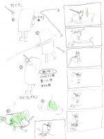 クレイアニメの絵コンテ