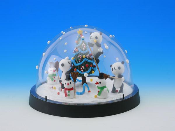 【天使のねんど】パンダのクリスマス